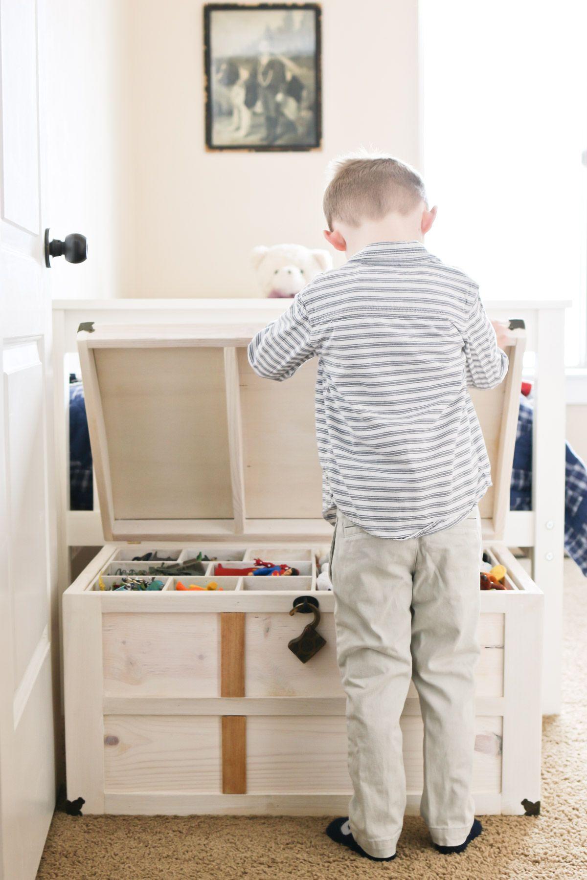 Diy Toy Storage Treasure Chest Tidbits Diy Toy Storage Toy Storage Chest Childrens Toy Storage