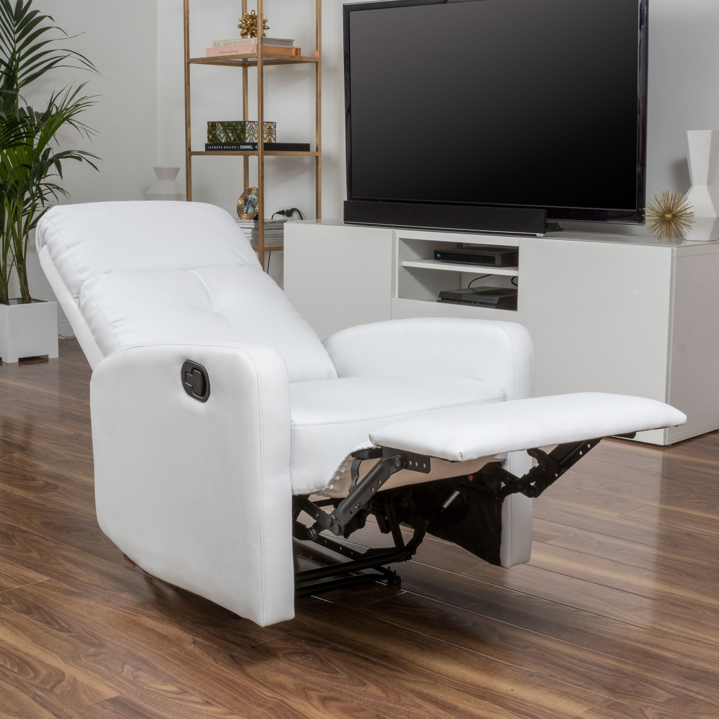Upholstered In Beautiful Pu Leather This Recliner Enjoys A Clic Look While Still Keeping Its Clean Lines And Simple Feel