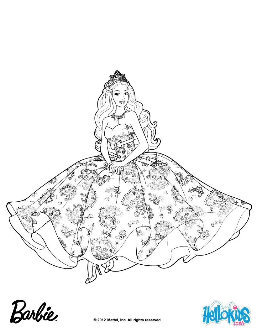 Barbie colouring in online free - Power Of The Diamond Gardenia Decreases Barbie Printable Free Barbie The Princess The Popstar Coloring Pages Available For Printing Or Online