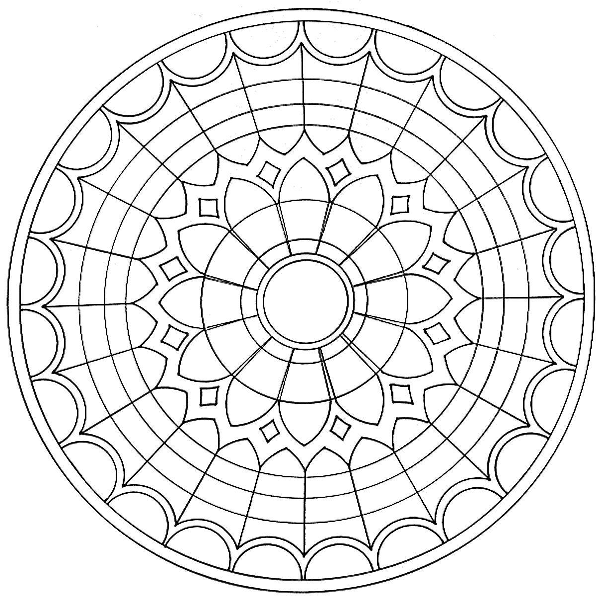 mandala_18.jpg (1212×1216) | Planar | Pinterest | Mandala vorlagen ...
