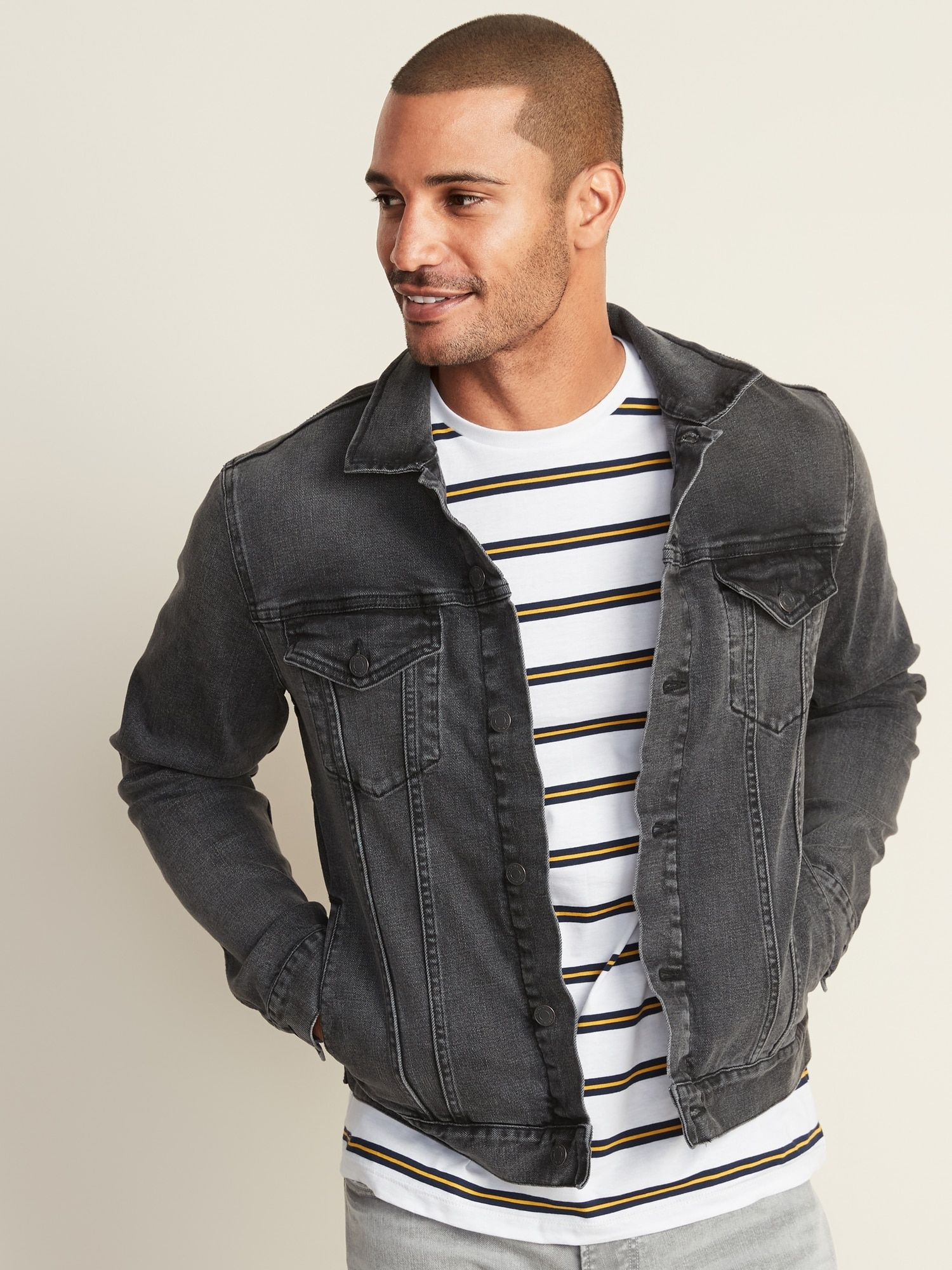 BuiltIn Tough Black Jean Jacket For Men in 2020 Denim