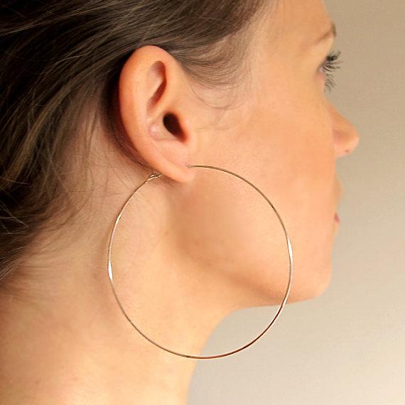 1eb367e38fcff Rose Gold Filled Hoops Earrings - Extra Large Hoops - Big Hoops ...