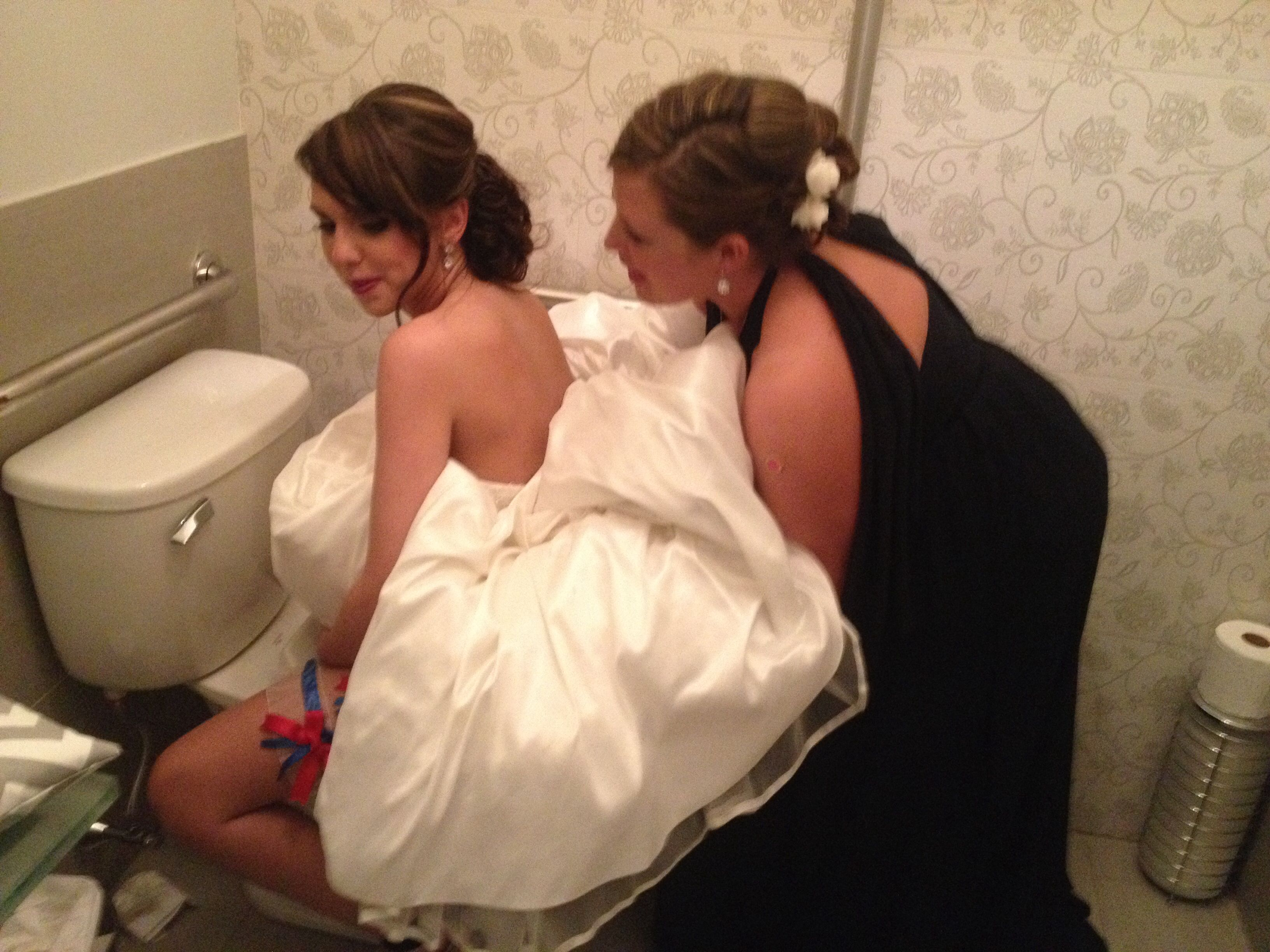 The Easy Way To Use Bathroom Bride My First Pin Ing Brideing How In A Wedding Dress Gown