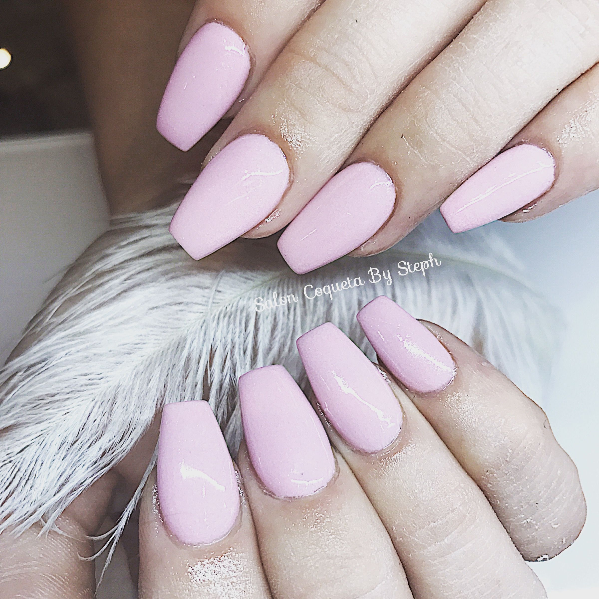 Pink nails coffin Shape nailart salon coqueta | Salon Coqueta ...