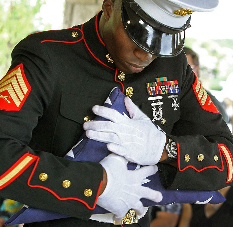 Career in a year photos 2012 somber marine exudes