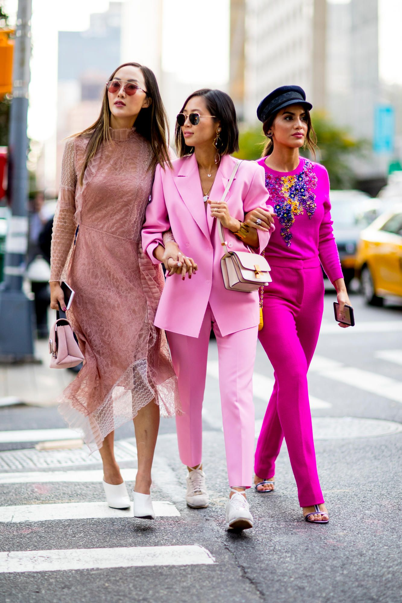 d17cc468d95b Team Pink sept17 SS18 On the street at New York Fashion Week. Photo   Imaxtree