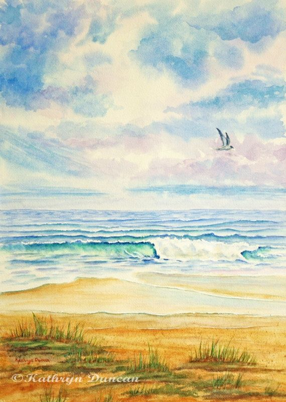 This Is A Quality Giclee Print Of My Watercolor Painting At The