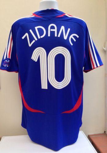 cbeeb133a ... Soccer Jersey France football shirt zidane 2006 world cup home adidas  adults xl blue madrid ...