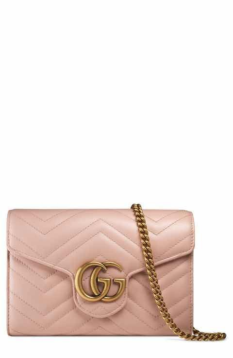 9c925cd41bb Gucci GG Marmont Matelassé Leather Wallet on a Chain