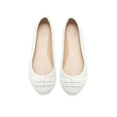 7c34dcf29 Bailarinas blancas Zapatillas Blancas