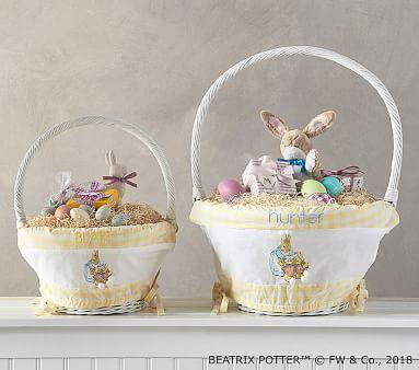 Beatrix Potter Pom Pom Tail Easter Basket Liners Easter