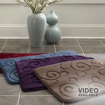 Mohawk Home Scroll Memory Foam Bath Rugs Home Sweet Home - Mohawk memory foam bath mat for bathroom decorating ideas