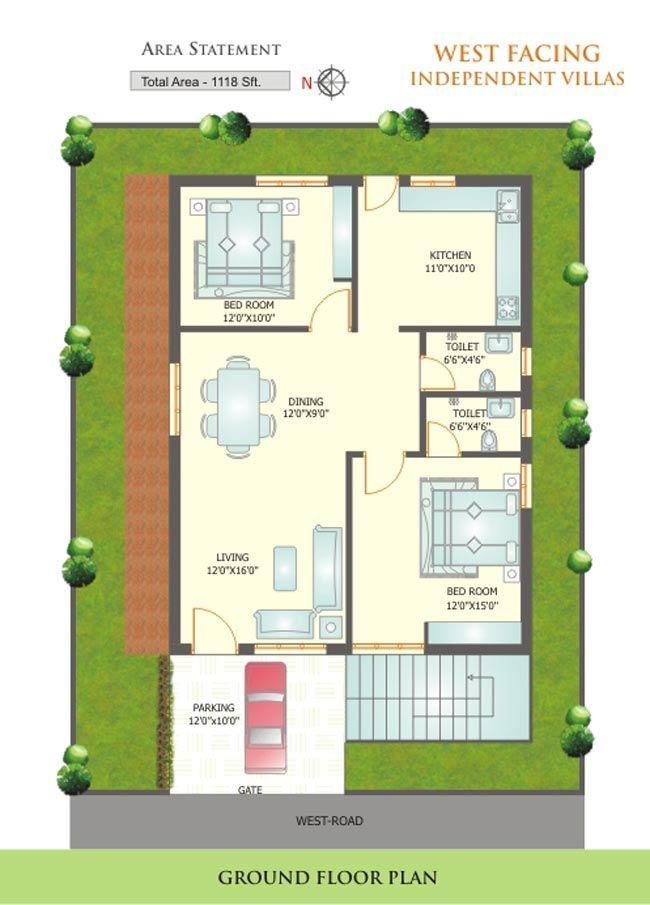 Vastu House Layout Small House Layout West Facing House 2bhk House Plan