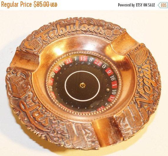 50% OFF SALE Vintage Copper Roulette Wheel Fabulous Las ...