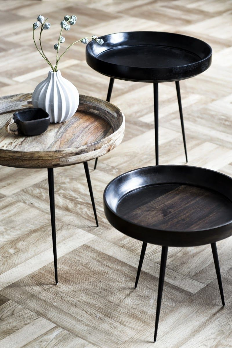 The bowl side tables made from sustainably harvested mango wood by ayush kasliwal for mater design