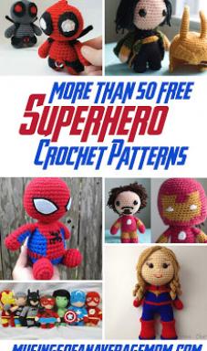 Musings of an Average Mom  Free Superhero Crochet Patterns #crochet #amigurumi #project #craft #diy #knitting #knittingpatterns #patterns
