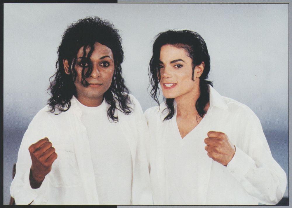 Michael Jackson Exclusive Very Rare Foto/Photo BLACK OR WHITE (2)