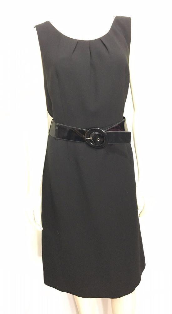 c9df64e41beb Tahari Arthur S Levine Womens 12 Black Sleeveless Belted Knee-Length Dress  LBD | Clothing, Shoes & Accessories, Women's Clothing, Dresses | eBay!