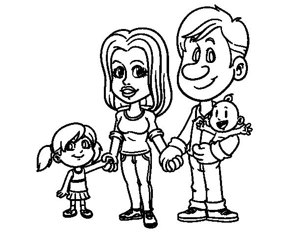 Dibujos Para Pintar Familia - Dibujos Para Pintar