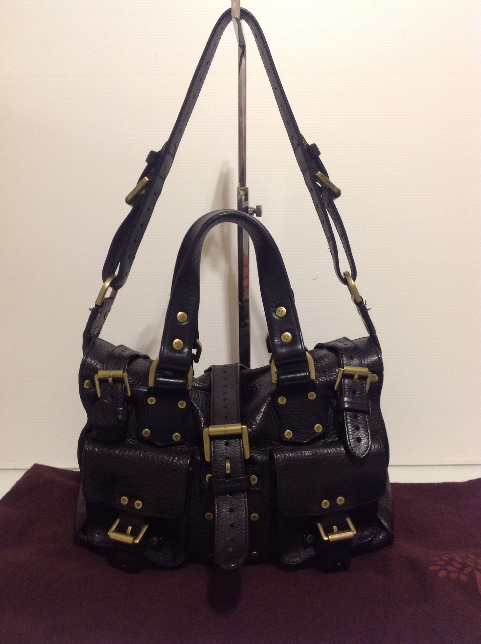 Authentic Mulberry Rosemary Shoulder Bag in Black Darwin