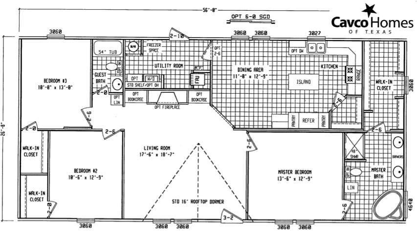 Double wide mobile home floor plans double wide 2856ltd for Small double wide floor plans