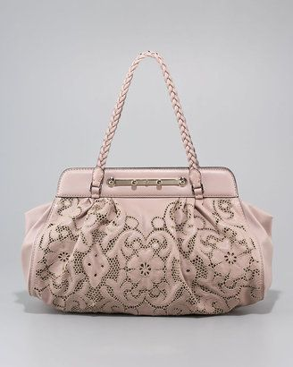 Valentino Demetra Leather Lace Tote oKJiKkB