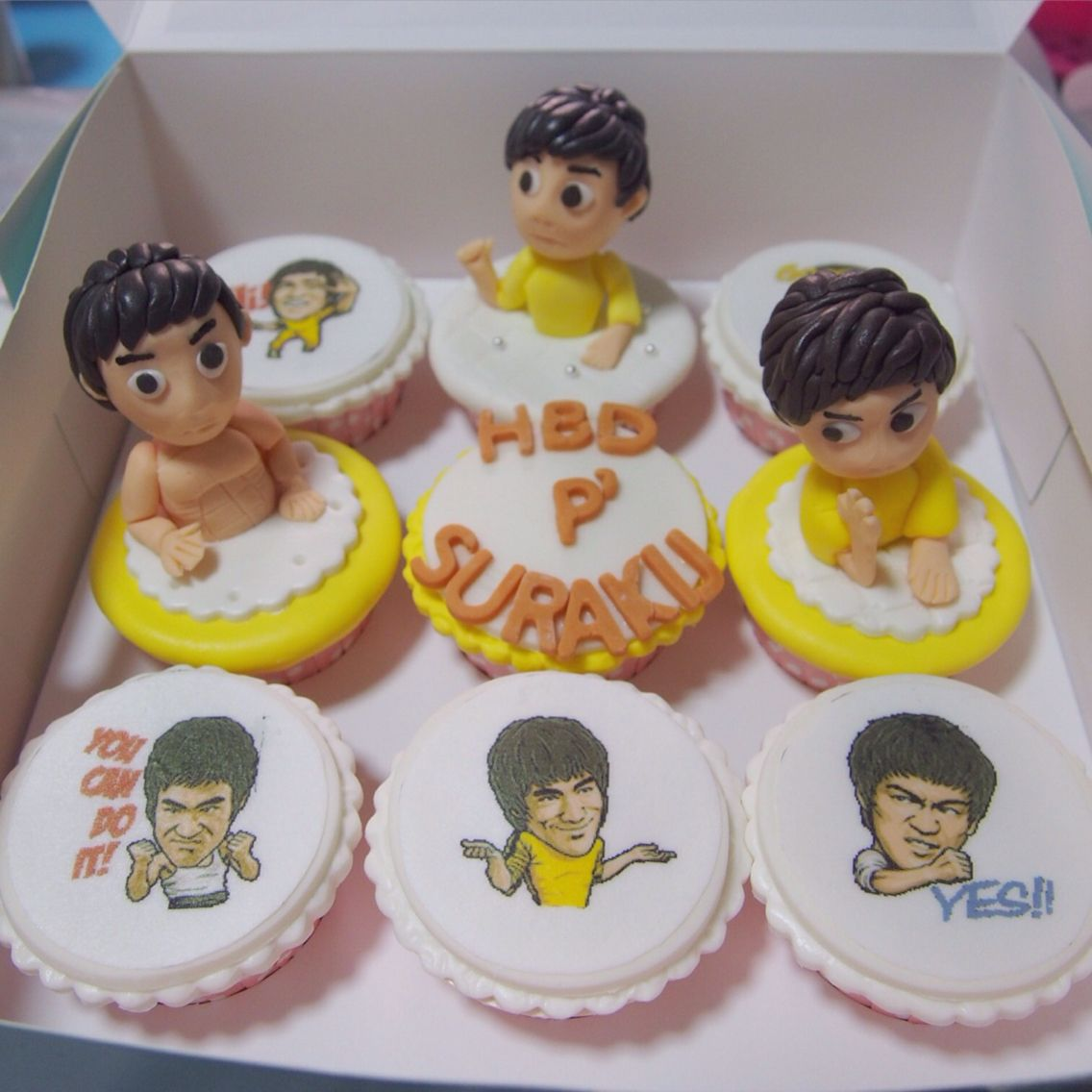 Bruce Lee cupcakes Bruce lee, Bakery, Birthday cake