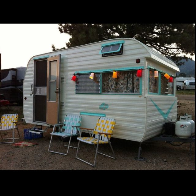 A 1963 Aljo Travel Trailer!!! The Lights U0026 Chairs Were My Grandparents  Originally That They Kept On Their Patio In Indiana  They Would Be Proud!