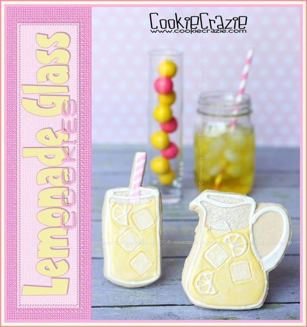 Lemonade Glass Cookies (Tutorial)