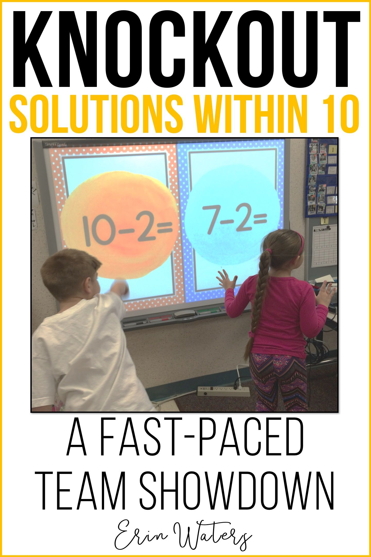 Math Fact Knockout {Addition & Subtraction Within 10} | Pinterest ...