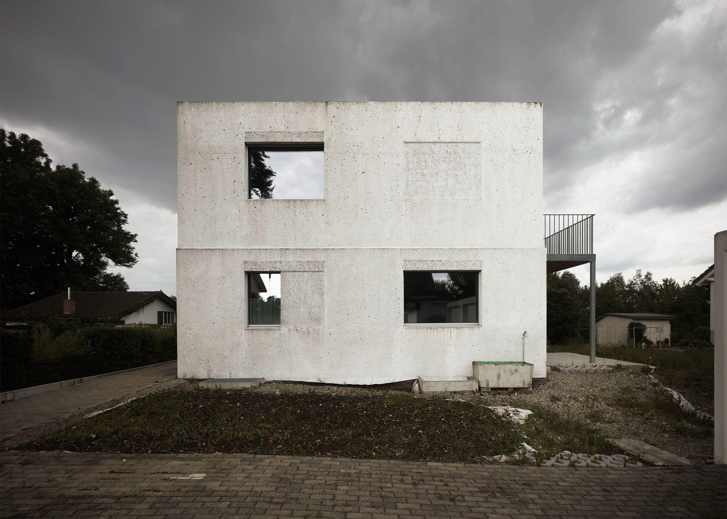 Beton wohnungsbau einfamilienhaus ideen zürich moderne häuser moderne architektur schweiz wohnungen