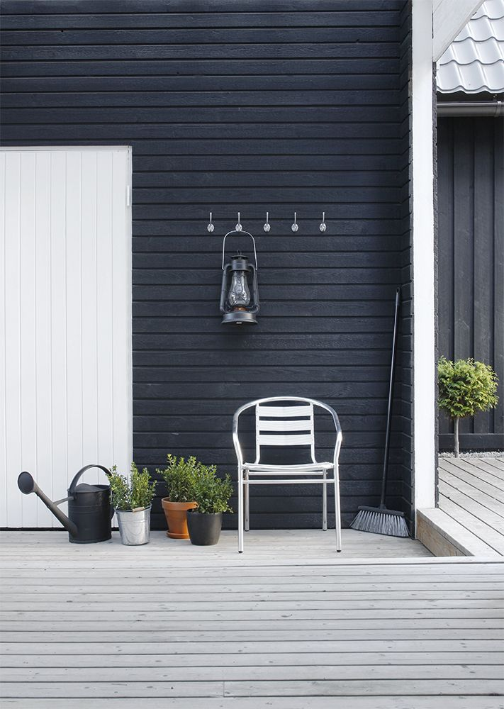 Black wood house - Terrace