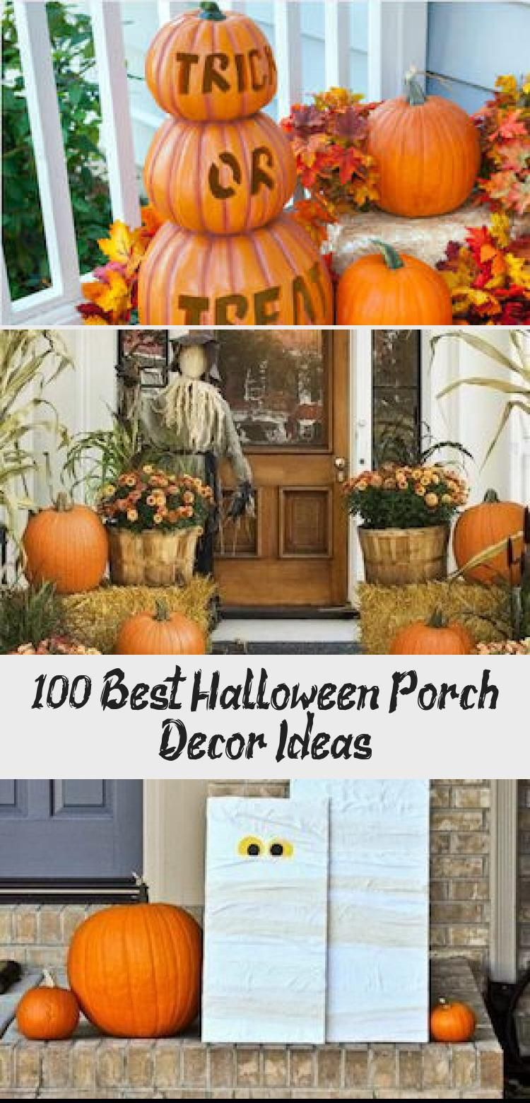 100 Best Halloween Porch Decor Ideas #falldecorideasfortheporch