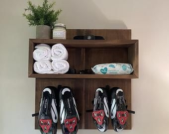 shoe and towel exercise shelf  etsy in 2020  home gym