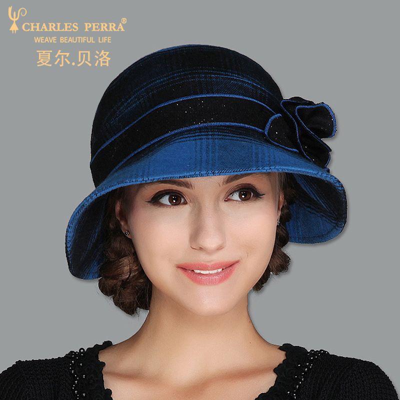 c625ff889 Barato Charles Perra Marca Chapéus Das Mulheres NOVO 2018 Outono Inverno  Moda chapéu Elegante Senhora Gorro
