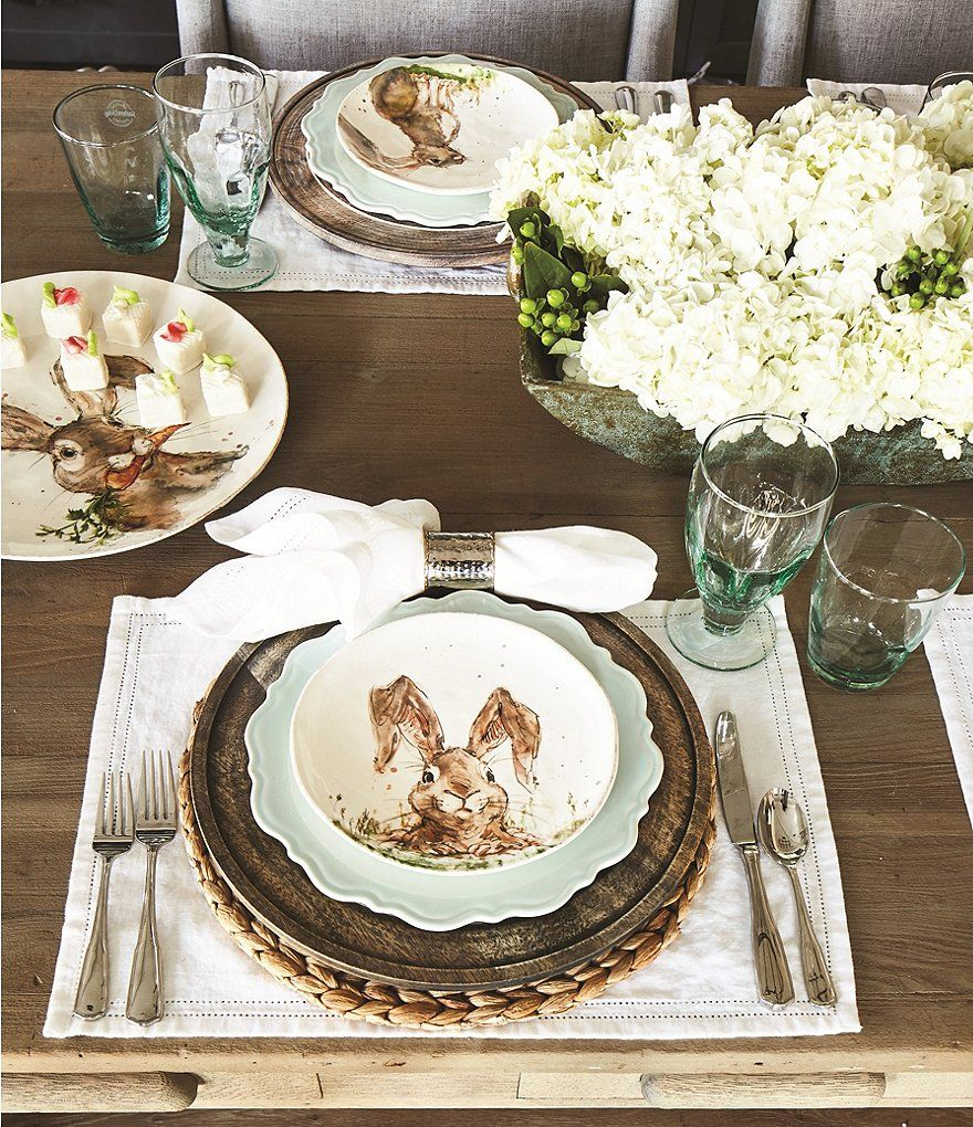 Southern Living Easter Digger Bunny Salad Plates Set of 2 & Southern Living Easter Digger Bunny Salad Plates Set of 2 | easter ...