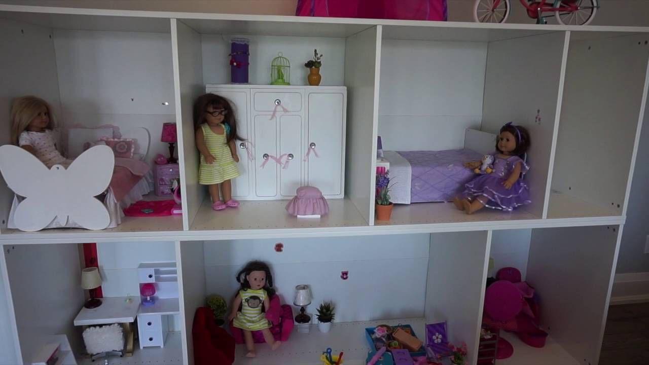 ikea dolls house furniture. DIY American Girl Doll House - Using Ikea\u0027s Pax Wardrobe Shelves Ikea Dolls Furniture