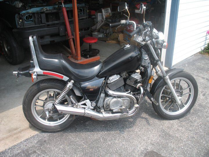 1985 Honda Shadow Vt500c My First Bike It Was Small Underpowered Quiet Didn T Run Right And Cost Me Just 700 But Honda Shadow Honda Motorcycles Honda