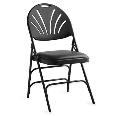 Admirable Vinyl Xl Fan Back Folding Chair In Products Padded Ibusinesslaw Wood Chair Design Ideas Ibusinesslaworg