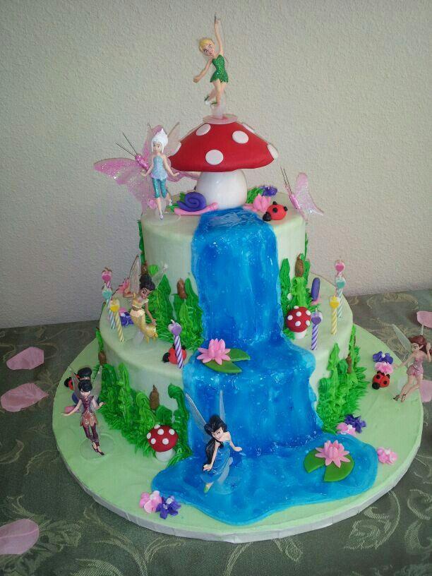 Fairy garden party cake | Fairy garden birthday party ...