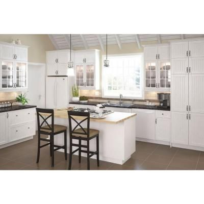Odessa Wall Cabinet In White Melamine And Door In White