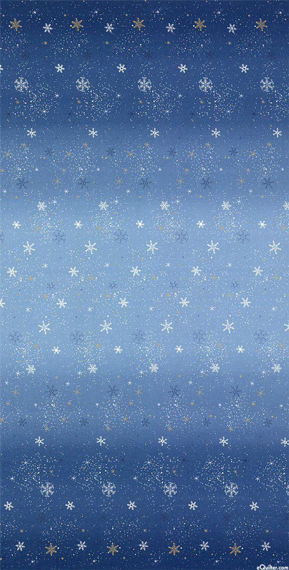 Snowflake Wonderland Collection Dark Blue/Gold Metallic