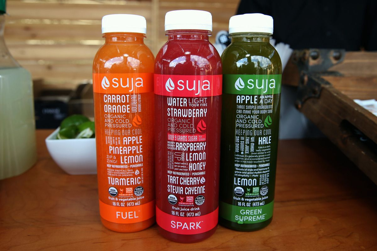 Suja Life products. Photographer: Jonathan Leibson/Getty Images for Raptor House