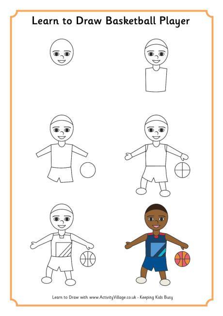 Préférence Apprendre à dessiner un joueur de basket-ball   dessine moi un  SX63
