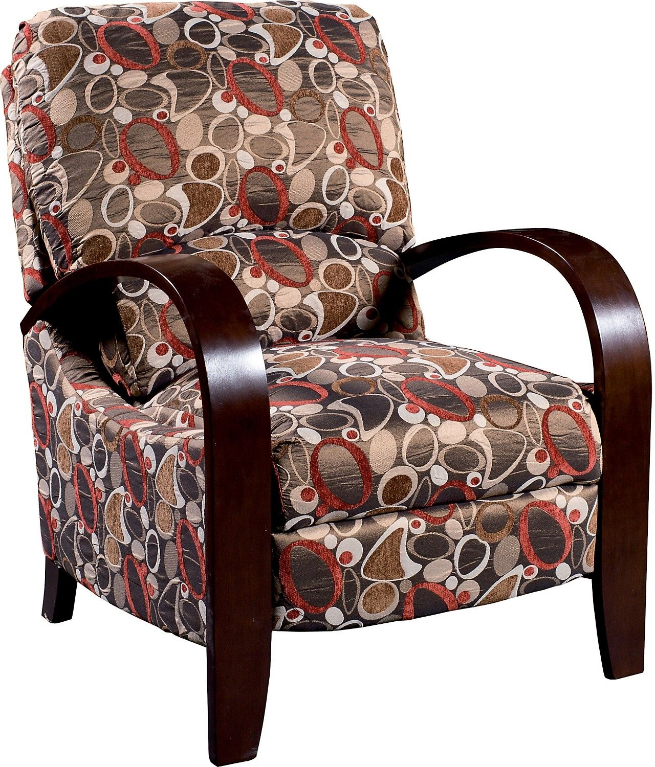 Wonderful Aaron Reclining Fabric Accent Chair   Copper