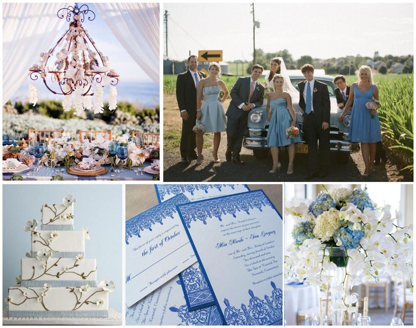 Baby Blue Wedding Table Decorations Photograph Wedding Food