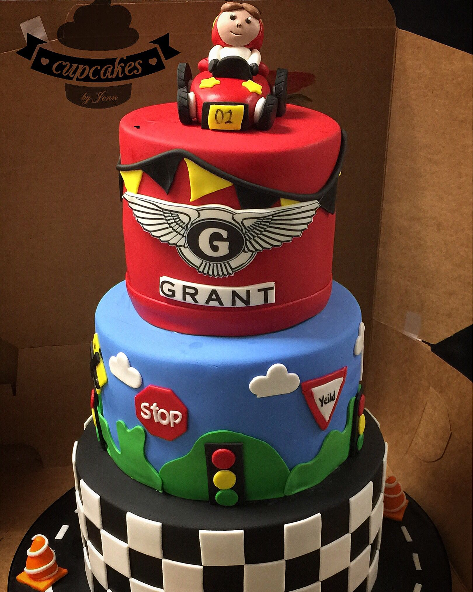 Awesome Race Car First Birthday Cake Cars Birthday Cake Race Car Funny Birthday Cards Online Hendilapandamsfinfo