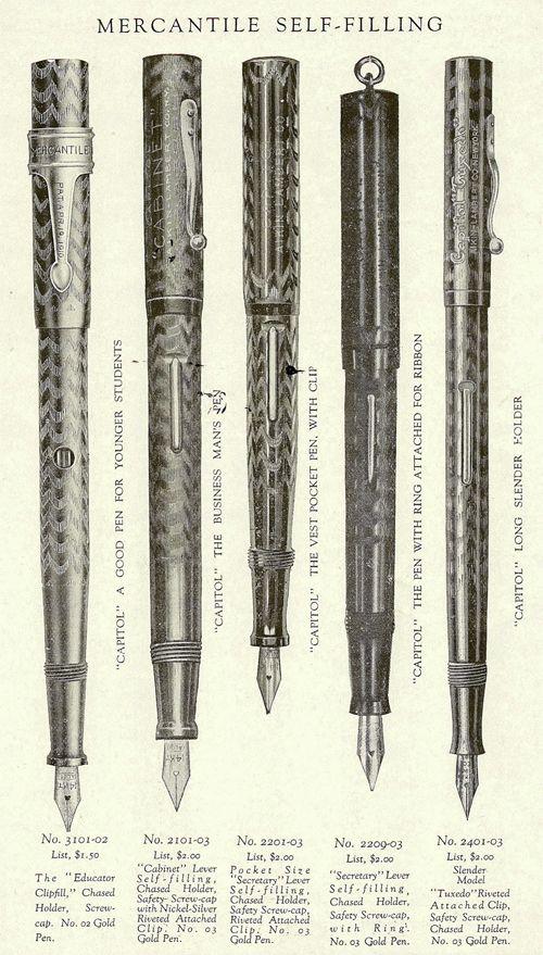 Aikin Lambert Mercantile Capitol Educator Fountain Pen Vintage Waterman Fountain Pen Vintage Pens