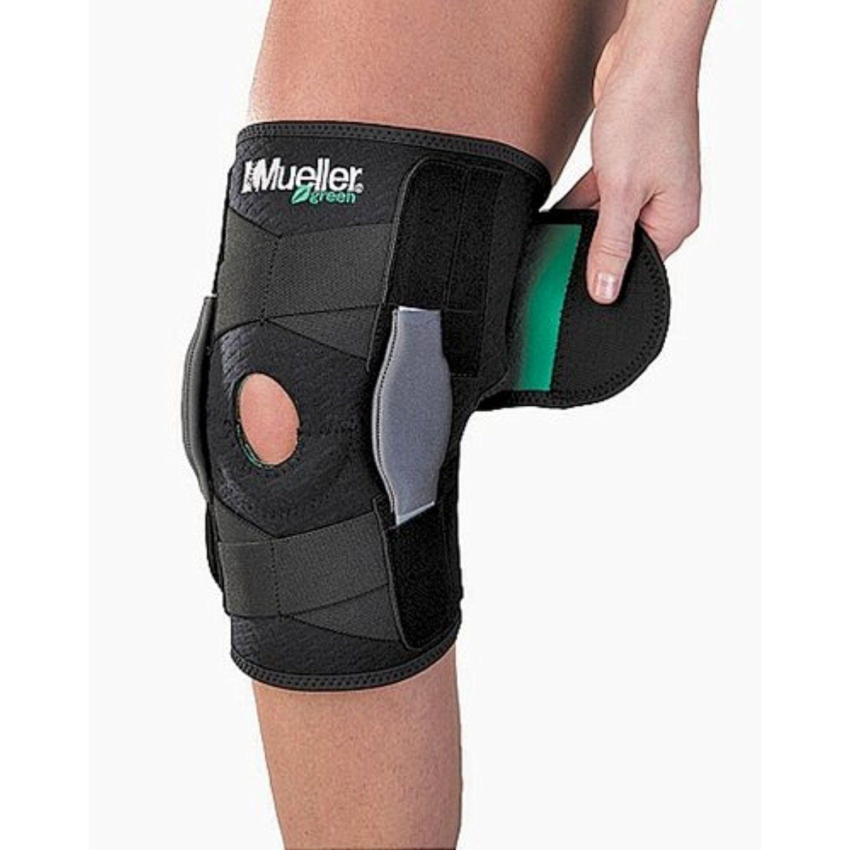 Mueller Self Adjusting Hinged Knee Brace, Black, One Size
