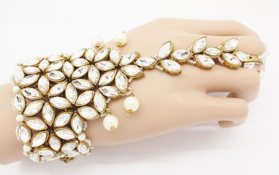 8ec357e6edb3d Handmade Gold Silver Pearl Hand Panja Hand by Glimour | Jewellery ...
